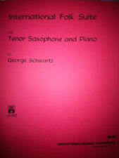 International Folk Suite Tenor Saxophone Piano Gr 3-4 Sheet Music Schwartz S104