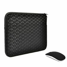 "UNIK CASE-2 in 1-Diamond Foam Sleeve Bag with USB Mouse for All 13"" Laptop"