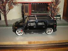 SWEET Jada Toys 1/24 Dub City 2003 Hummer H2 SUV Lowrider Black Free Shipping