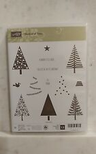 NEW Stampin Up! FESTIVAL OF TREES Stamp Set -13 Photopolymer Stamp Set Retired