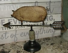 PIG Weather Vane Sculpture*Primitive/French Country/Farmhouse Kitchen Decor*NEW!
