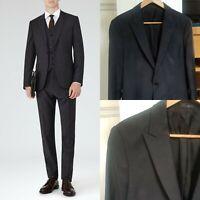 "Reiss mens 'Gaffer' charcoal, peaked lapel jacket, 38"" - RRP £225"