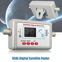 Digital TV Antenna Satellite Finder Signal Meter Searcher LCD Display SF-95DL