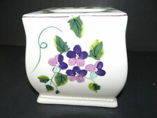 Waverly Garden Room Sweet Violets Ceramic Tissue Box Cover Purple Floral