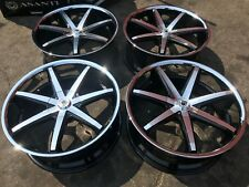 "(4) 20"" INCH ASANTI 6X127 CHROME LIP BLACK WHEELS RIMS LEXANI FORGIATO STRADA"