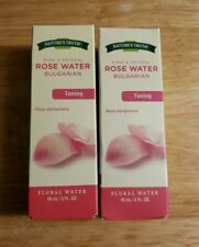 ( 2 ) Natures Truth ROSE WATER 100% Essential Oils Toning Aromatherapy Large 2oz