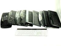 MIXED LOT of 9 - Logitech Wireless Desktop Various Keyboard *AS IS No Receiver