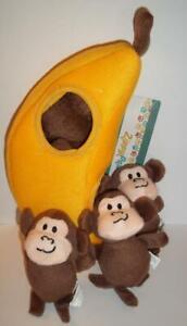Zippy Burrows Monkey 'N Banana Interactive Squeaky Hide & Seek Puzzle Dog Toy