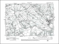 17NW repro Holker Lancashire in 1919 Old map of Cark