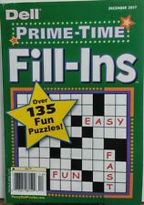 Dell Prime Time Fill Ins December 2017 Over 135 Fun Puzzles FREE SHIPPING sb