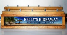 (COLOR LEDS) 11  BEER TAP HANDLE Holder Personal Tropical  Hideaway BAR SIGN