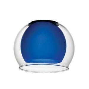 Lithonia Lighting Blue Glass with Clear Glass Bowl Shade for LED Mini Pendant