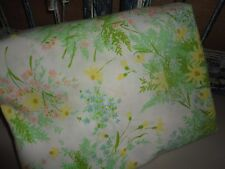 SPRINGMAID SPRING DAISIES GREEN WHITE YELLOW FLORAL DOUBLE FULL FITTED SHEET 8""