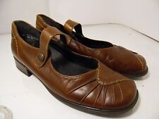 Rieker Brown Leather Mary Janes Shoes Womens Size 38 Romania