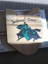Medieval Times Joust Knight Dragons CollectiblesWooden Sign Shield Dungeons Usa