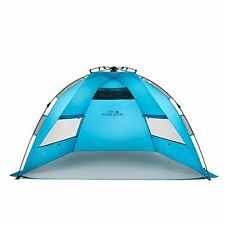 Pacific Breeze EasyUp Beach Tent, Blue, Large