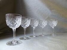 5 Webb Crystal Port Wine Glasses, Not Signed, Art Deco