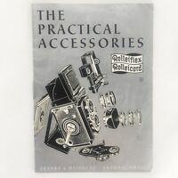 Vintage 1954 ROLLEIFLEX ROLLEICORD Practical Accessories Booklet