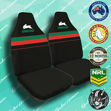 NEW! NRL OFFICIAL SOUTH SYDNEY RABBITOHS FRONT CAR SEAT COVERS AIRBAG COMPATIBLE