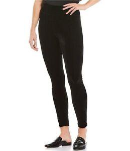 Hue Leggings Women's Large Black Velvet High Rise Ankle Stretch U21837 NEW NWT