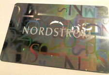 Nordstrom Gift Card Reflective Silver Retail Card rechargeable ---0-----   value