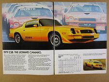 1978 chevrolet Camaro Z28 Monza Spyder Corvette El Camino Royal Knight print Ad