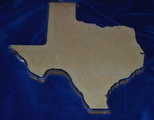 Large Clear Texas State Blank Thick Cut Trophy Wall Decor