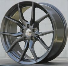 Set(4) 18x8 5x108 GUNMETAL WHEELS RIMS FIT FORD FOCUS FUSION COUGAR VOLVO C70