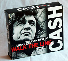 3CD-Box JOHNNY CASH - Walk the Line - The Very Best Of