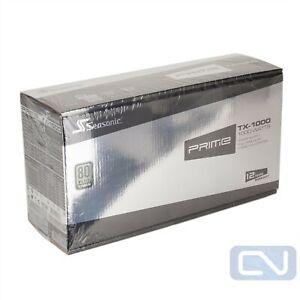 New Seasonic PRIME TX-1000 SSR-1000TR 1000W ATX Modular Titanium Power Supply