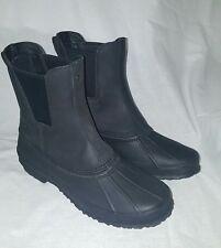 NIB UGG Australia Men's Romosa Black Waterproof Leather Sheepskin Boots US 10