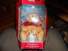 2002 Disney Store Exclusive Special Edition Holiday Pooh & Bonus Snow Globe