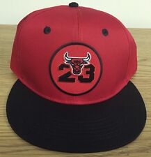 8c0421b93fa NWOT Chicago Bulls Michael Jordan Hat  23 SnapBack Cap Red Black NBA NEW