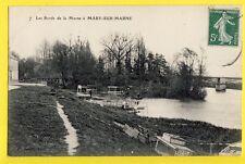 cpa FRANCE Old Postcard 77 - Les Bords de la Marne à MARY sur MARNE casiers