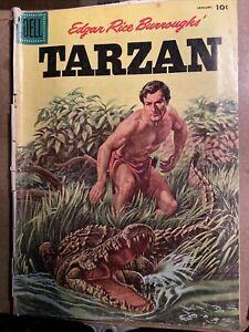 Edgar Rice Burroughs Tarzan #76 October 1956 Dell Comic Book