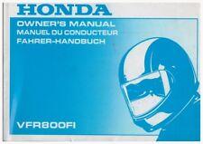 Owner's Manuell; Fahrer-Handbuch Honda VFR800FI Ausgabe 1998