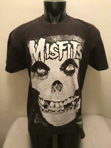 Vintage Misfits Black & White Ghost Skull Face Shirt Mens XL Made in USA