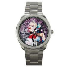 Suicide Squad Margot Robbie Harley Quinn Unisex Men Women Stainless Steel Watch