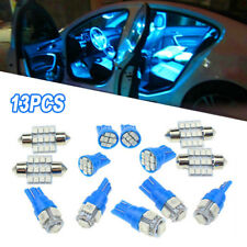 13x Blue LED Lights Interior Package Kit For Dome License Plate Lamp Bulbs Kits