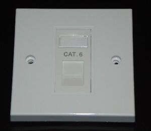 Cat6 RJ45 Single Face Plate (Network Ethernet data Wall socket / FacePlate)