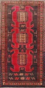 Vintage Geometric Ardebil Traditional Oriental Area Rug Hand-knotted Wool 5x10