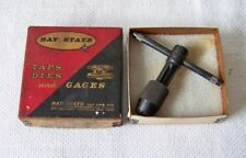 Vintage BAY STATE T-11 Sliding Slip T-Handle Thread Tap Wrench w/Original Box