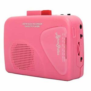 Byron Statics Walkman Portable Cassette Players Recorders USB Power Supply Pink