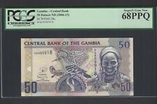 Gambia 50 Dalasis ND(2006-13) P28c Uncirculated Graded 68
