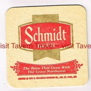 "1970s ""Brew That Grew With The Great Northwest"" SCHMIDT BEER 3½"" Tavern Trove"