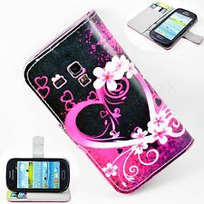 Card Holder Wallet Leather Case Cover Skin For Samsung Galaxy S3 III Mini i8190