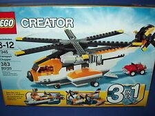 LEGO 7345 Creator 3 IN 1 TRANSPORT CHOPPER 383pc Helicopter Seaplane Ferry NISB