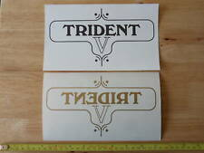 60-3954 TRIUMPH 750cc TRIDENT V GOLD SIDE PANEL DECAL TRANSFER (PR) *