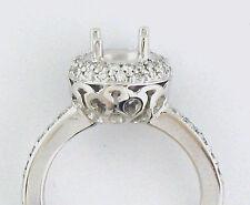0.45Ct  DIAMOND ENGAGEMENT RING SEMI MOUNT 14K W GOLD
