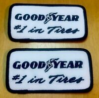 Vintage Goodyear Racing Tires Patch #1 In Tires Skater Punk Tech Lot Of 2 NEW